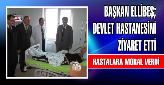 Belediye Başkanı Mehmet Ellibeş Necati Çelik Gölcük Devlet Hastanesini ziyaret etti