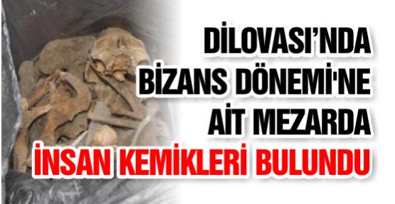 Bizans Dönemi'ne Ait Mezarda İnsan Kemikleri Bulundu