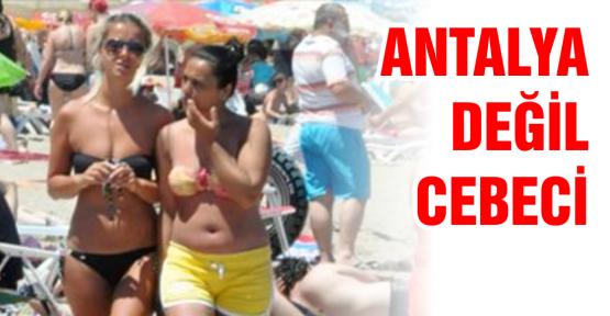 Burası Antalya değil, Cebeci sahili