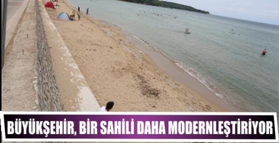 Büyükşehir, bir sahili daha modernleştiriyor