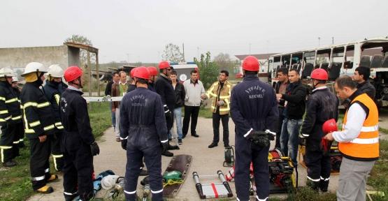 Büyükşehirden Moldovalı itfaiyecilere eğitim