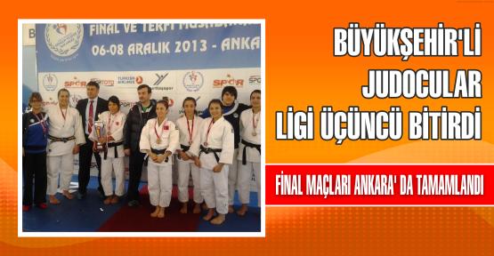 Büyükşehir'li Judocular, ligi üçüncü bitirdi