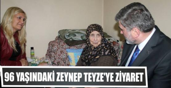 Çakır ve Demirtaş'tan  96 Yaşındaki Zeynep teyzeye ziyaret