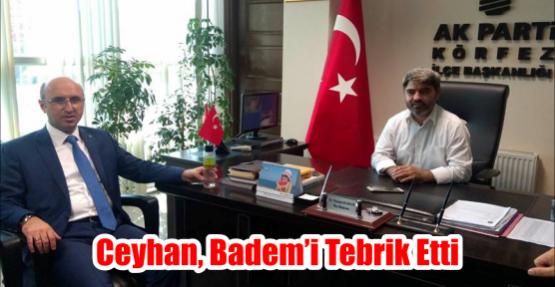 Ceyhan, Badem'i tebrik Etti