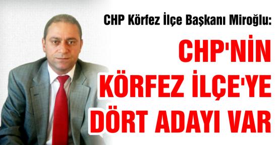 CHP KÖRFEZ'DEN DÖRT ADAY
