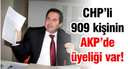CHP'li 909 kişinin AKP'de üyeliği var!