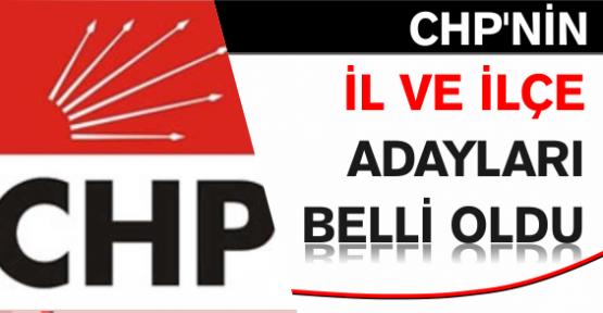 CHP'nin il ve ilçe adayları belli oldu