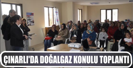 Çınarlı'da doğalgaz konulu toplantı