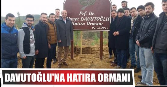 DAVUTOĞLU'NA HATIRA ORMANI
