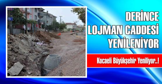 Derince Lojman Caddesi yenileniyor