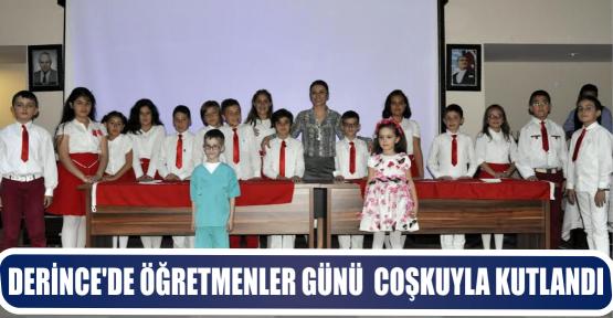 DERİNCE'DE ÖĞRETMENLER GÜNÜ  COŞKUYLA KUTLANDI