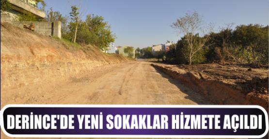 Derince'de yeni sokaklar hizmete açıldı