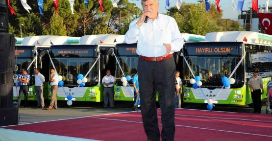 Doğalgazlı otobüsler görücüye çıktı