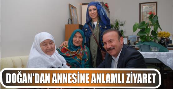 DOĞAN'DAN ANNESİNE ANLAMLI ZİYARET