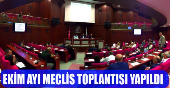 EKİM AYI MECLİS TOPLANTISI YAPILDI