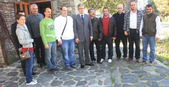 Ellibeş D.dere'deki çay bahçelerinin işletmecileri ile bir araya geldi