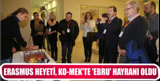 ERASMUS HEYETİ, KO-MEK'TE 'EBRU' HAYRANI OLDU