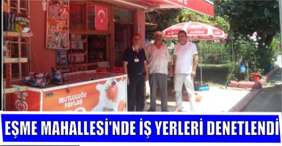 EŞME MAHALLESİ'NDE İŞ YERLERİ DENETLENDİ