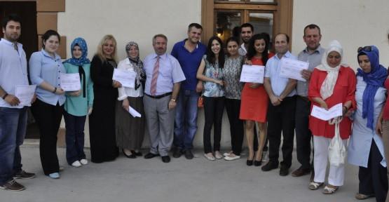 Gar Binası'nda sertifika töreni