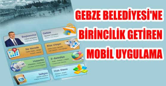Gebze Belediyesi'ne birincilik getiren mobil uygulama