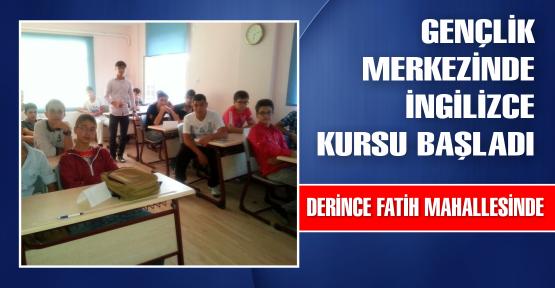 Gençlik Merkezi'nde İngilizce dersleri başladı