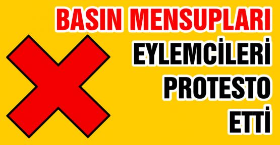 GEZİ PARKI EYLEMCİLERİNE BASIN PROTESTOSU