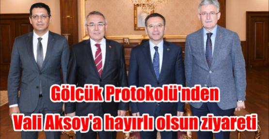 Gölcük Protokolü'nden Vali Aksoy'a hayırlı olsun ziyareti
