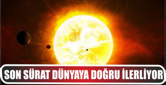 Güneş'te dev patlama! Dünyaya doğru ilerliyor