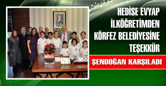 Hedise Evyap İlköğretimden, Körfez Belediyesine Teşekkür