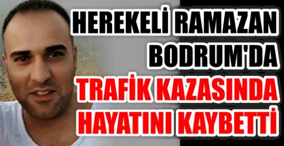 HEREKELİ RAMAZAN BODRUM'DA TRAFİK KAZASINDA HAYATINI KAYBETTİ