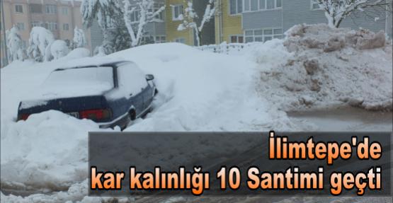 İlimtepe'de kar kalınlığı 10 Santimi geçti