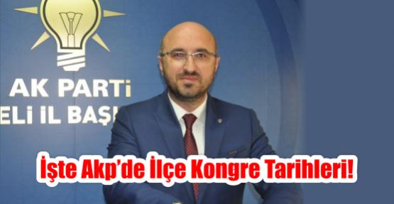 İşte AKP'de ilçe kongre tarihleri!