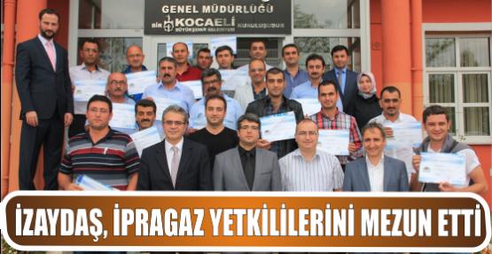 İZAYDAŞ, İPRAGAZ yetkililerini mezun etti