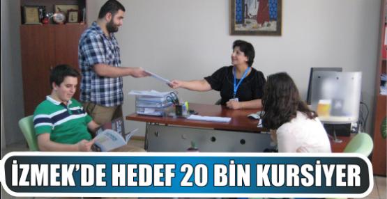 İZMEK'DE HEDEF 20 BİN KURSİYER