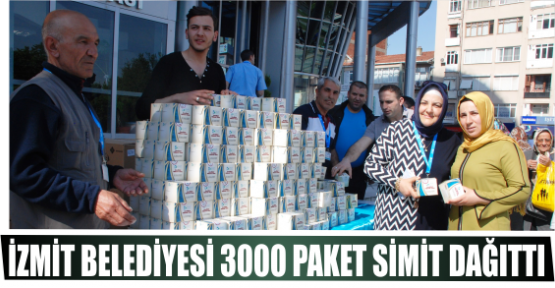 İZMİT BELEDİYESİ 3000 PAKET SİMİT DAĞITTI