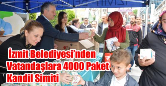 İZMİT BELEDİYESİ'NDEN VATANDAŞLARA 4000 PAKET KANDİL SİMİTİ