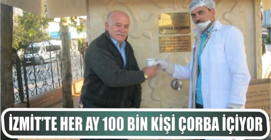 İZMİT'TE HER AY 100 BİN KİŞİ ÇORBA İÇİYOR