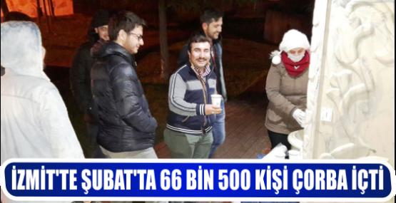 İZMİT'TE ŞUBAT'TA 66 BİN 500 KİŞİ ÇORBA İÇTİ