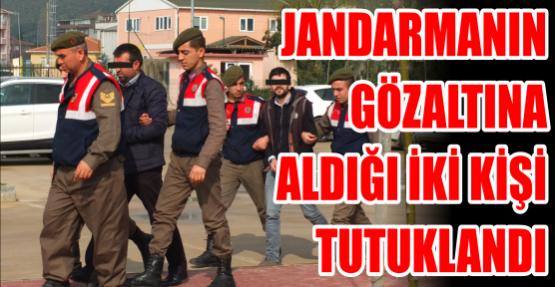 Jandarmanın gözaltına aldığı iki kişi tutuklandı
