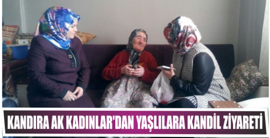 Kandıra Ak Kadınlar'dan yaşlılara Kandil ziyareti