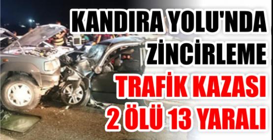 Kandıra Yolu'nda zincirleme trafik kazası