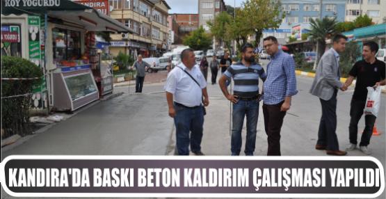 KANDIRA'DA BASKI BETON KALDIRIM ÇALIŞMASI YAPILDI