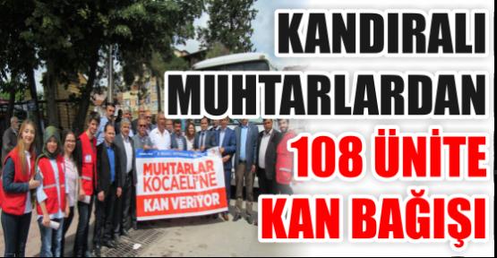 KANDIRALI MUHTARLARDAN 108 ÜNİTE KAN BAĞIŞI
