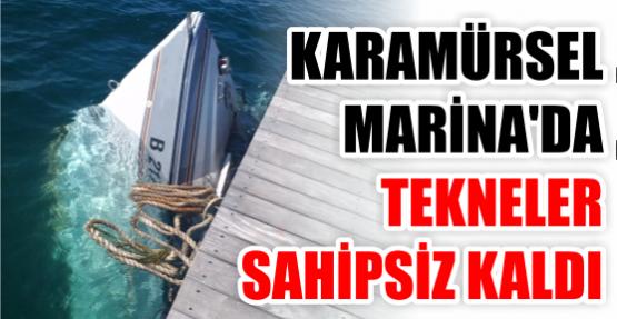 Karamürsel Marina'da tekneler sahipsiz kaldı