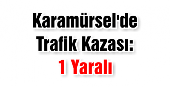 Karamürsel'de Trafik Kazası: 1 Yaralı