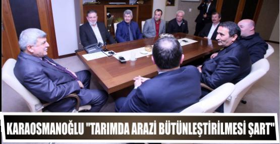 Karaosmanoğlu ''Tarımda arazi bütünleştirilmesi şart''
