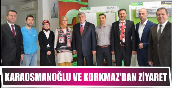 Karaosmanoğlu ve Korkmaz'dan Eski il yöneticisine ziyaret