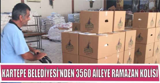 KARTEPE BELEDİYESİ'NDEN 3560 AİLEYE RAMAZAN KOLİSİ