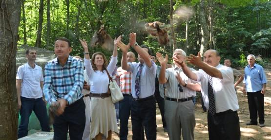 Kartepe'de 500 sülün doğaya salındı