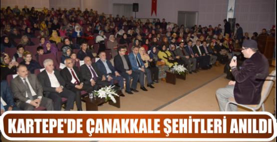 KARTEPE'DE ÇANAKKALE ŞEHİTLERİ ANILDI